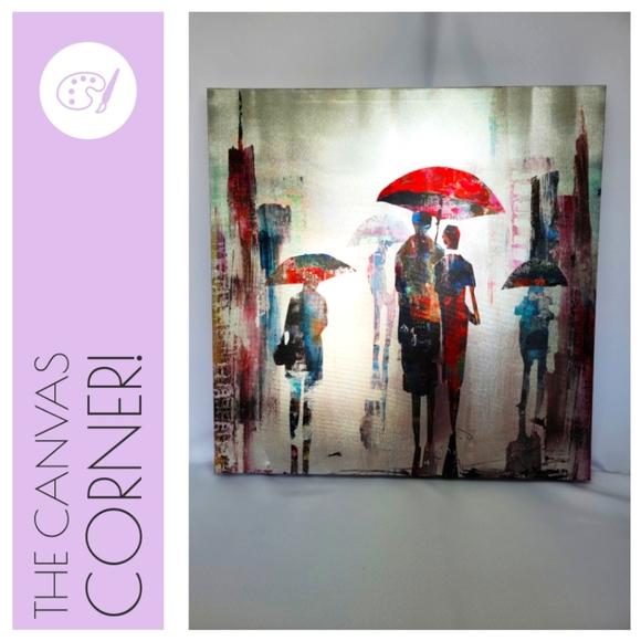 Umbrella Canvas Wall-Art